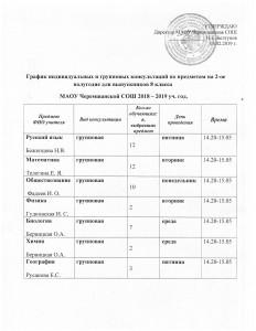 график консультаций 8 кл на 2 полугодие 2018-2019 уч.г